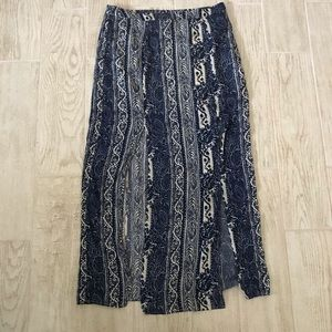 NWT American Eagle maxi skirt with slits size 12